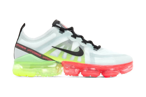 Nike Air VaporMax 2019 - Pure Platinum/Volt/Bright Crimson