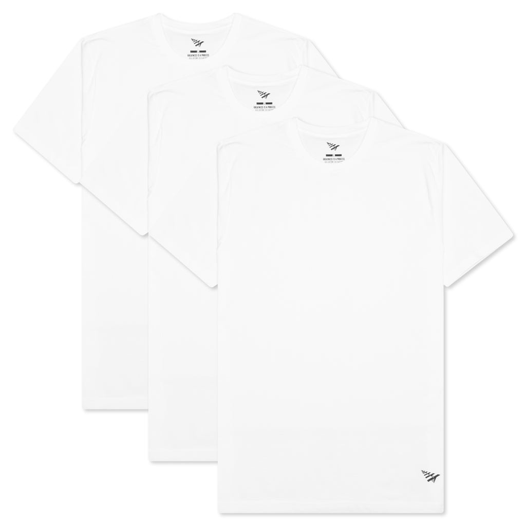 Paper Planes Essential 3 Pack Tees - White