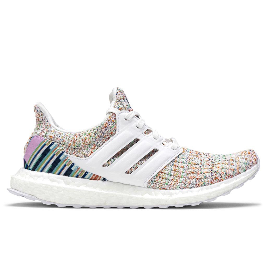 Women's Adidas Ultraboost 4.0 - White/White/Green | Feature