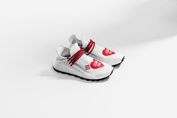 Adidas Originals x Pharrell Williams x Human Made NMD Hu - White/Red