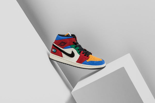 Air Jordan 1 Mid SE Fearless - Muslin/Varsity Red/Royal/Black