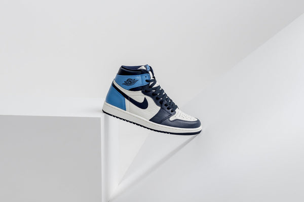 Air Jordan 1 Retro High OG - Sail/Obsidian/University Blue
