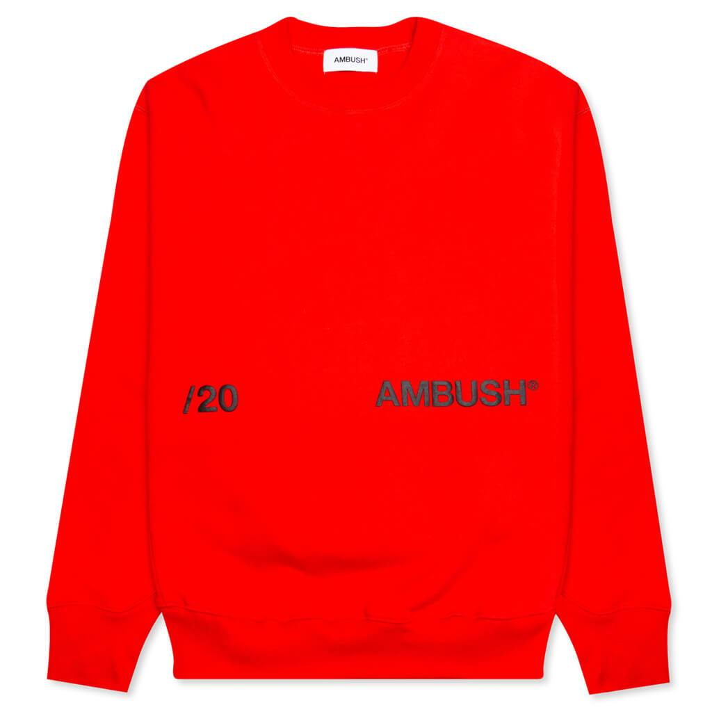 Ambush Logo Crewneck Sweatshirt - Red