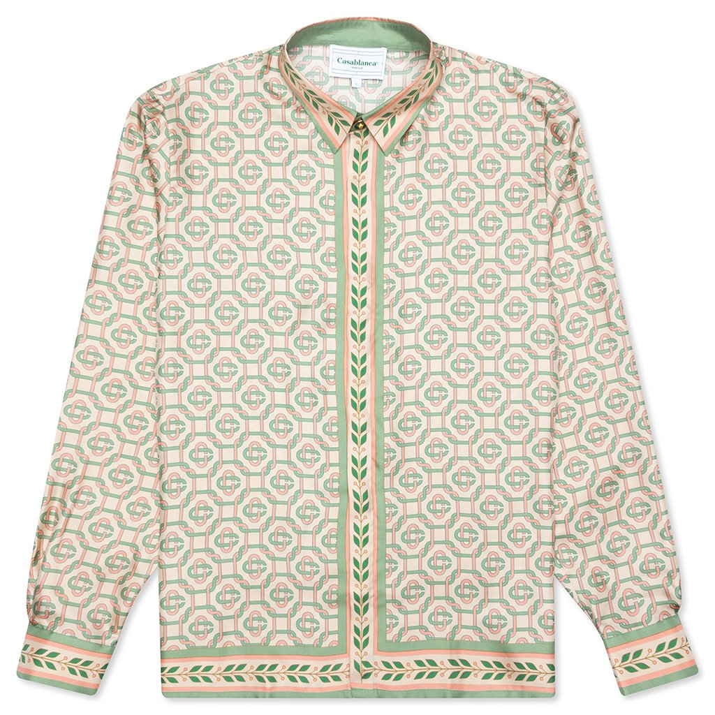 Casablanca Printed L/S Silk Shirt - Laurel Monogram Light