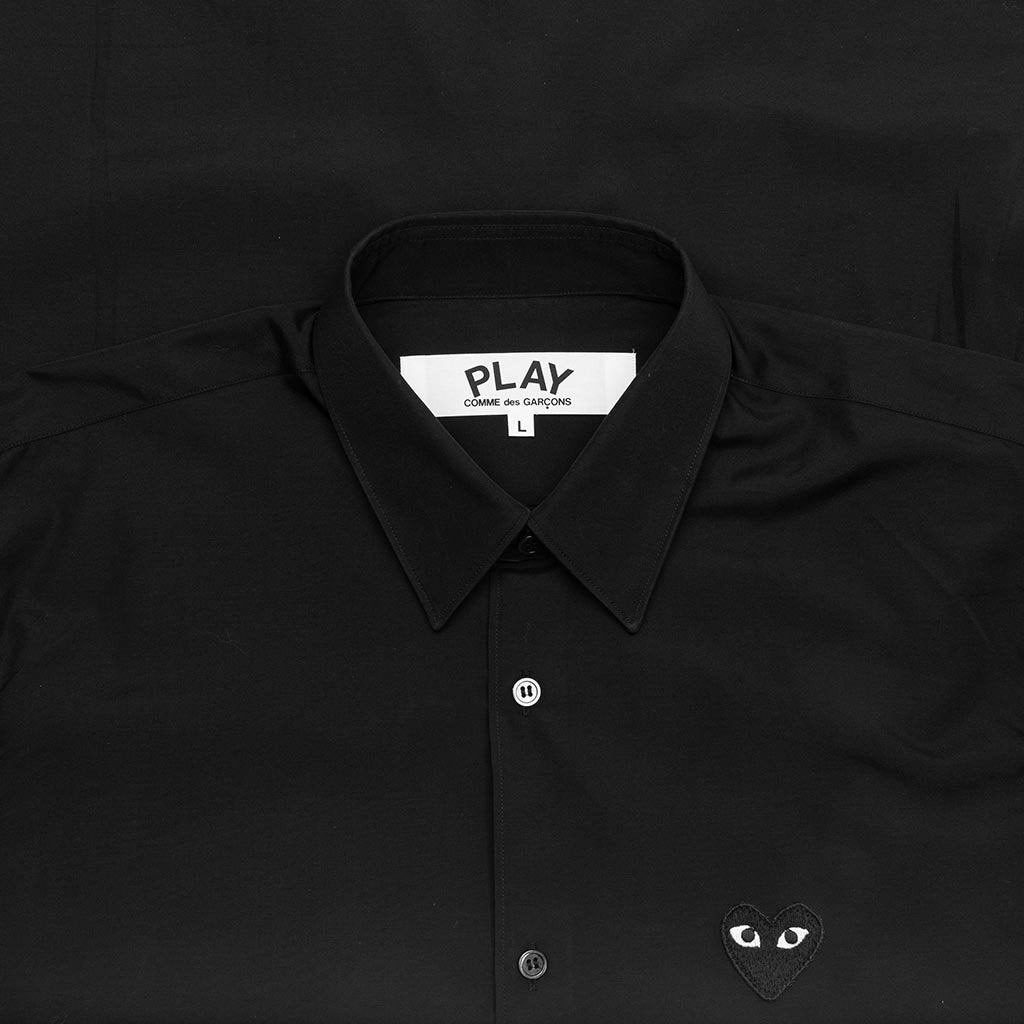 Comme des Garcons PLAY Black Emblem Button Down - Black