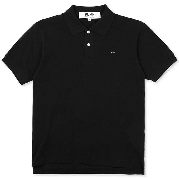 Comme des Garcons PLAY Black Heart Polo Shirt - Black