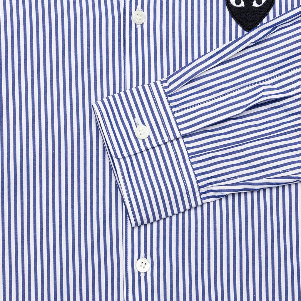 Comme des Garcons PLAY Button Down - Blue/White