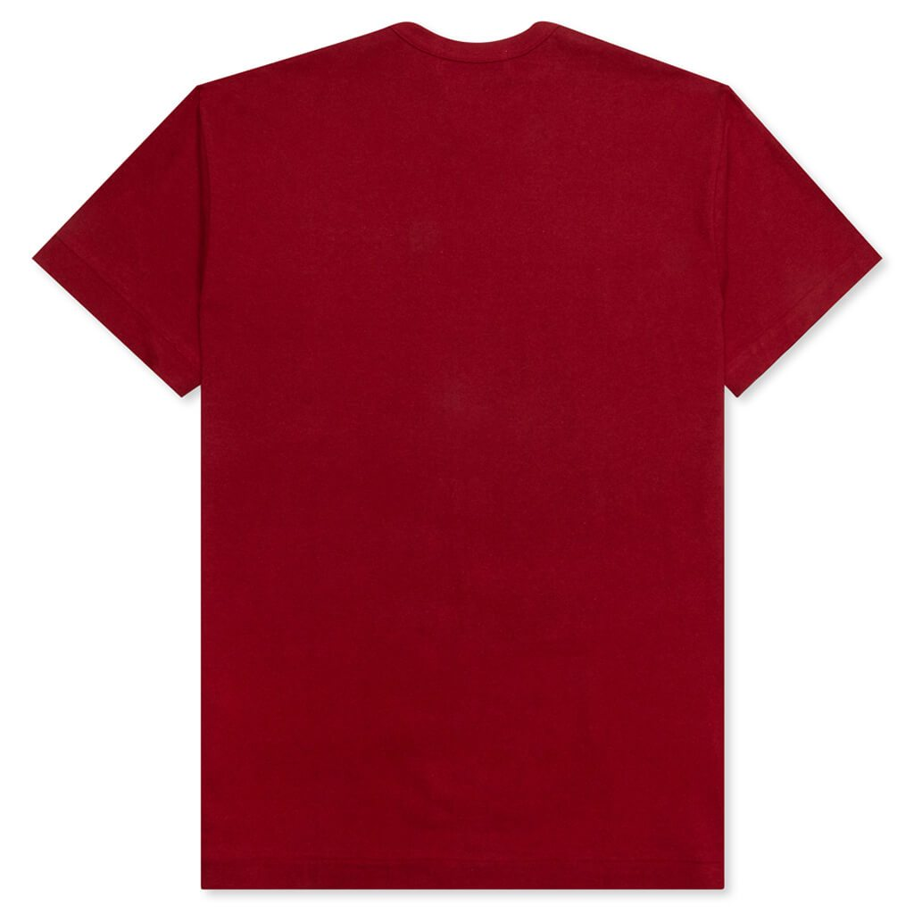 Comme des Garcons PLAY Double Hearts T-Shirt - Maroon