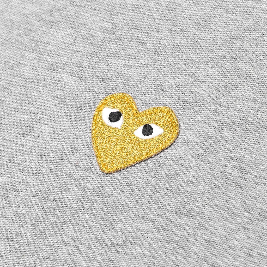 Comme des Garcons PLAY Gold Heart T-Shirt - Grey