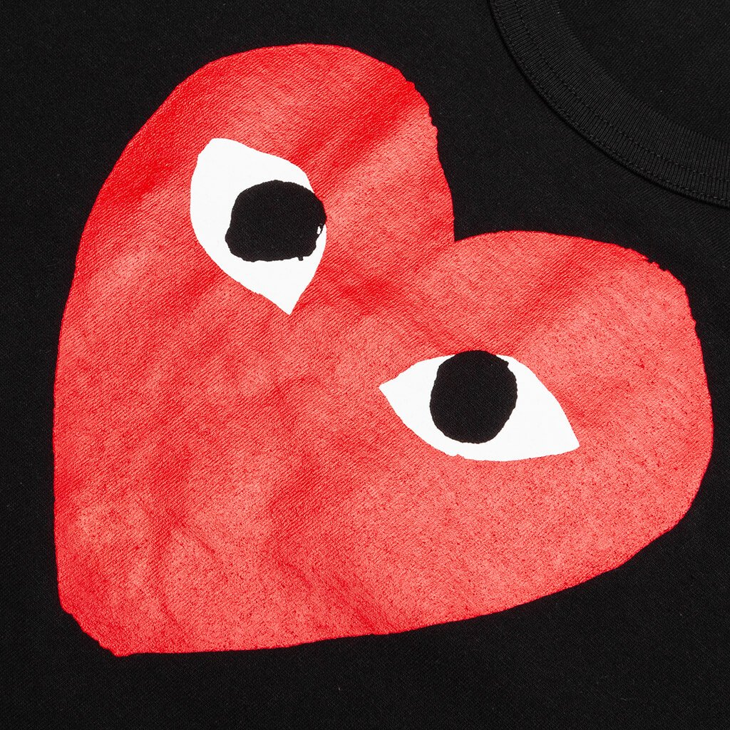 Comme des Garcons PLAY Heart T-Shirt - Black