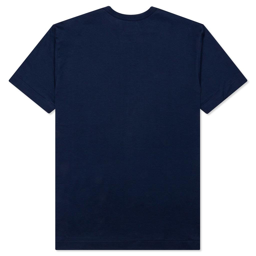 Comme des Garcons PLAY Heart Text T-Shirt - Navy