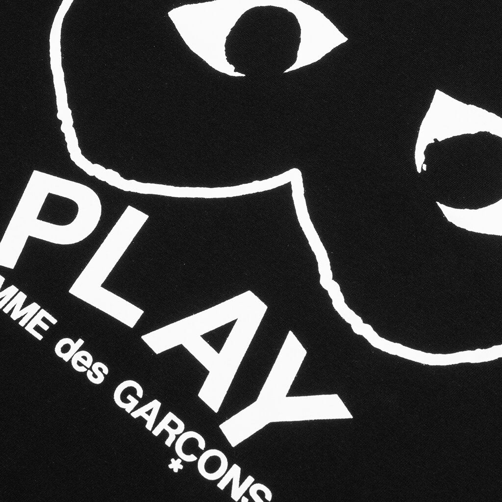 Comme des Garcons PLAY Inverted Outline Heart T-Shirt - Black
