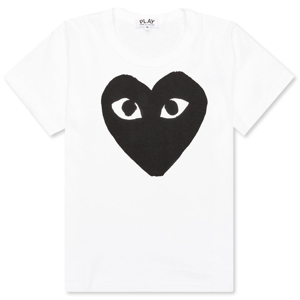 Comme des Garcons PLAY Kid's Heart T-Shirt - White/Black