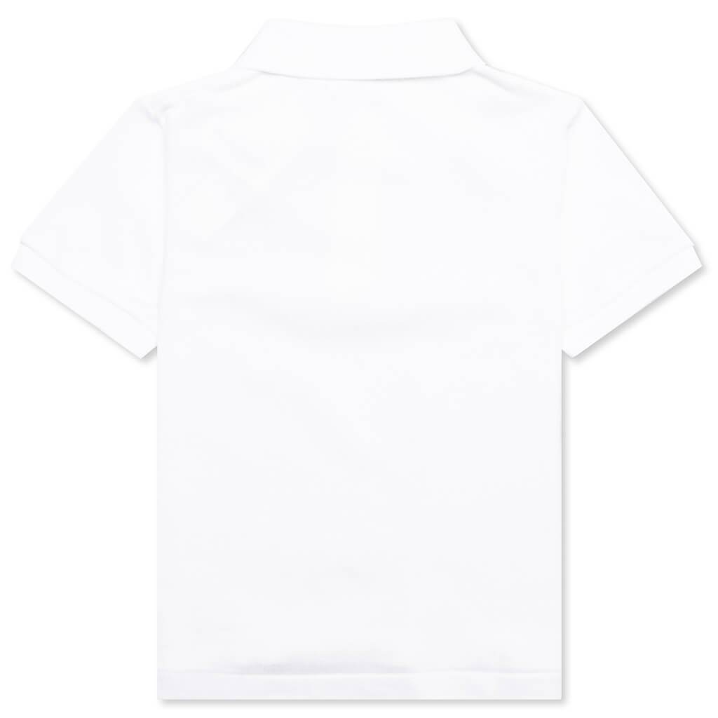 Comme des Garcons PLAY Kid's Polo Shirt - White