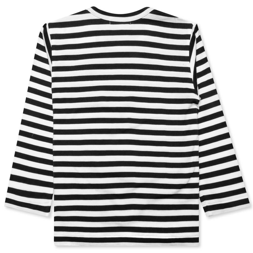 Comme des Garcons PLAY Kid's Striped Long Sleeve T-Shirt - Black/White