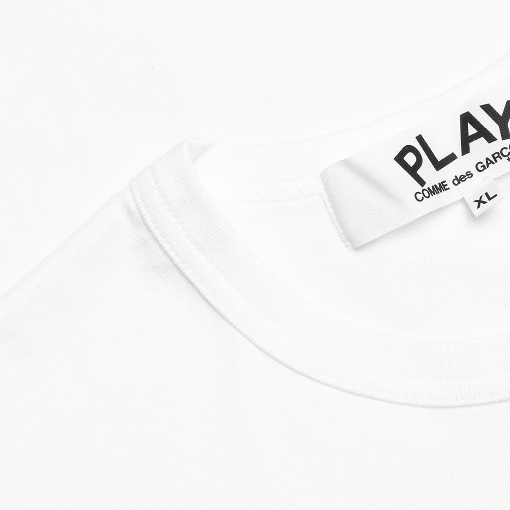 Comme des Garcons PLAY Outline Heart T-Shirt - White/Red