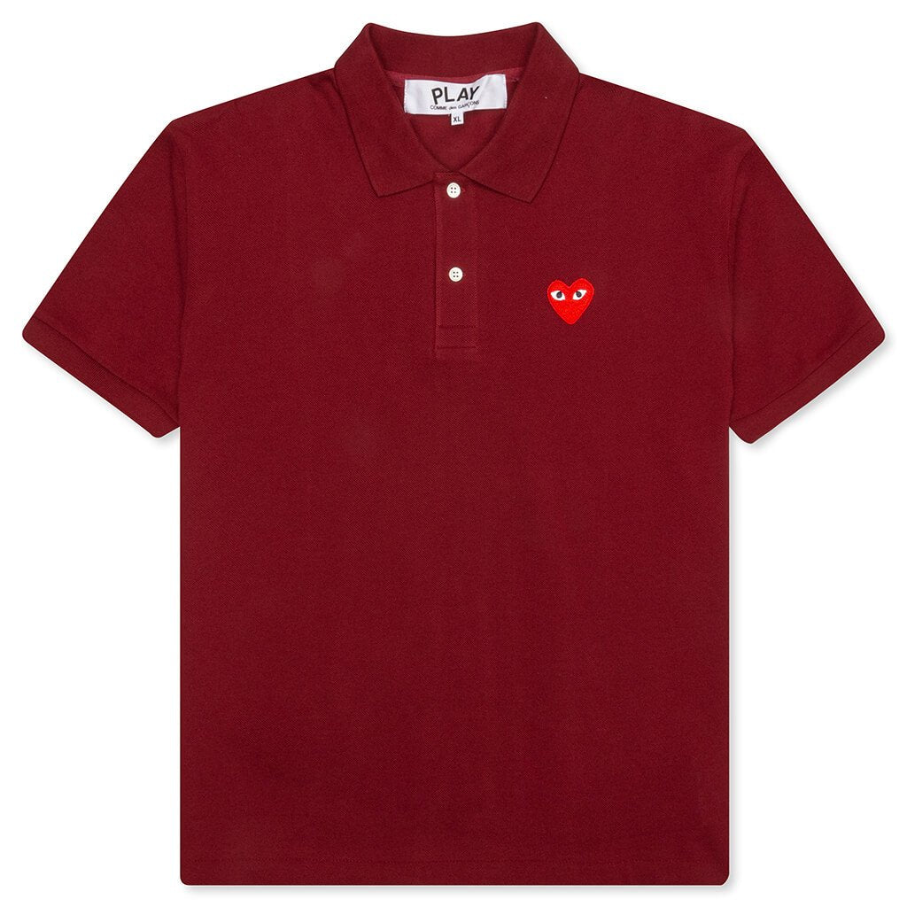 Comme des Garcons PLAY Polo Shirt - Burgundy