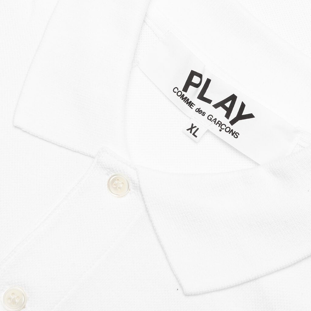 Comme des Garcons PLAY Polo Shirt - White