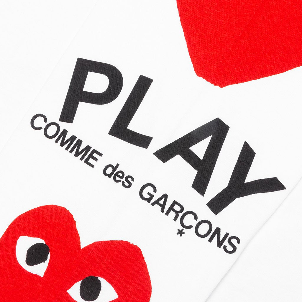 Comme des Garcons PLAY Printed Sleeve L/S - White