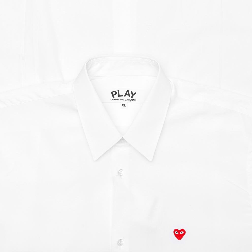 Comme des Garcons PLAY Small Emblem Button Down - White