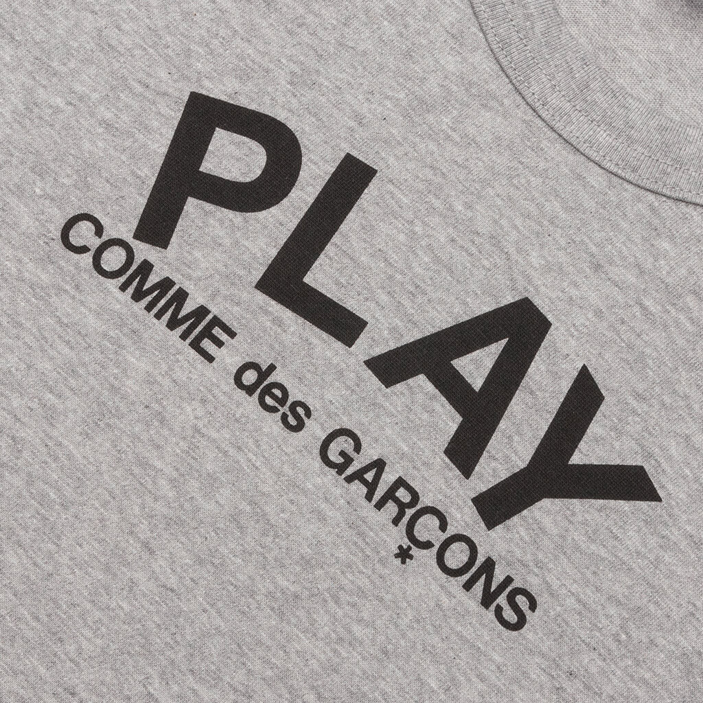 Comme des Garcons PLAY Small Text T-Shirt - Grey