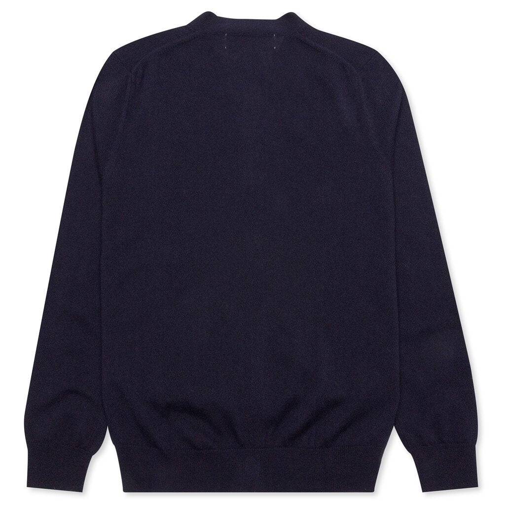 Comme des Garcons PLAY V-Neck Cardigan - Navy