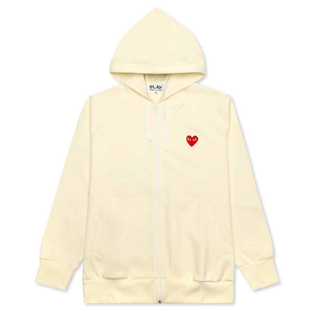 Comme des Garcons PLAY Zip Up - Off White