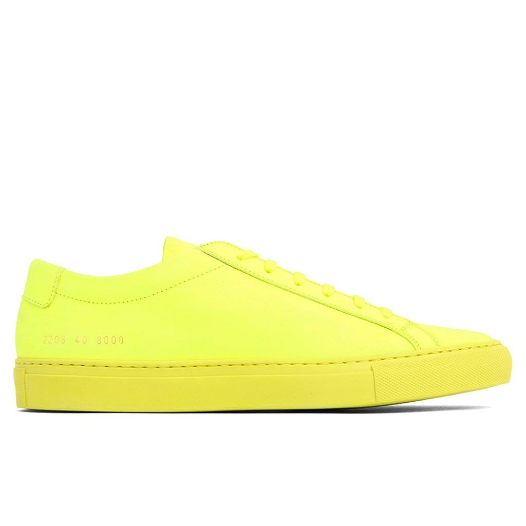 Common Projects Original Achilles Low - Neon Yellow