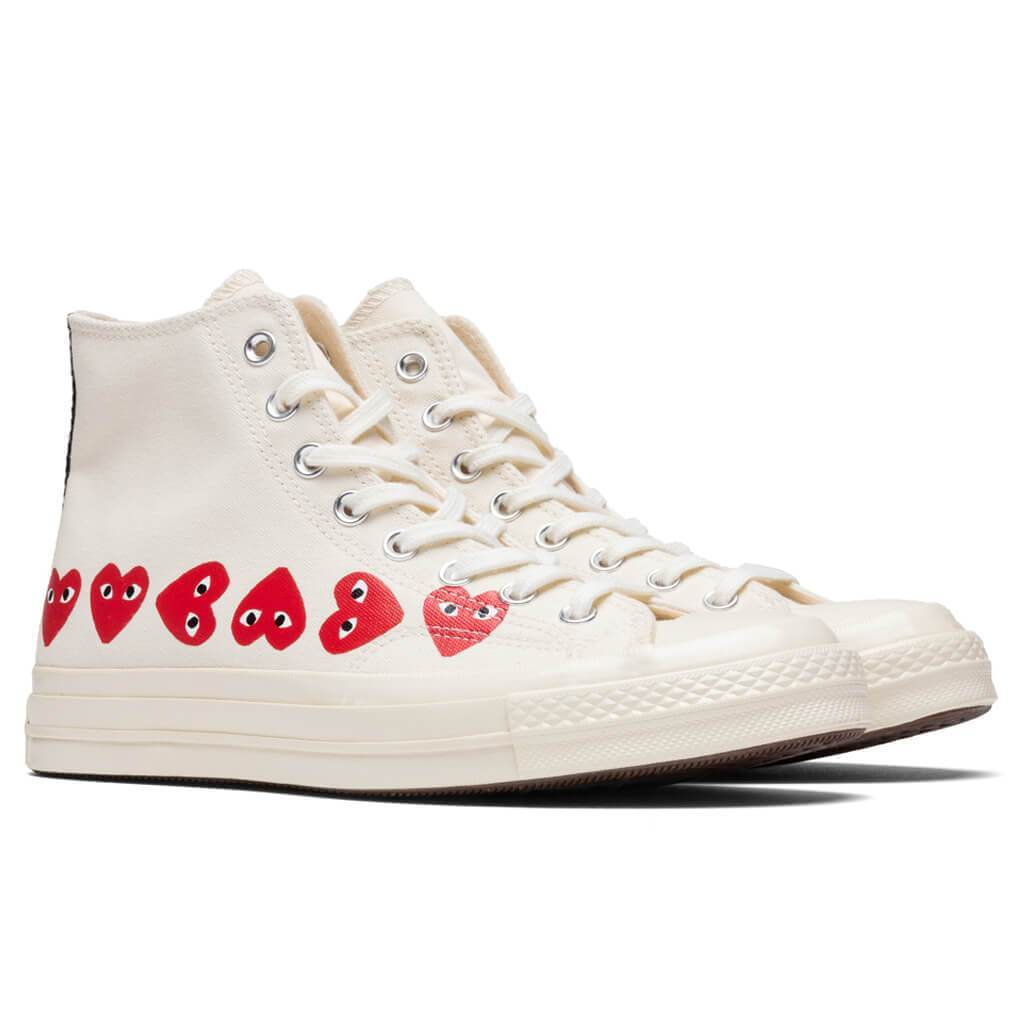Converse x Comme Des Garcons PLAY All Star Chuck '70 Hi ...
