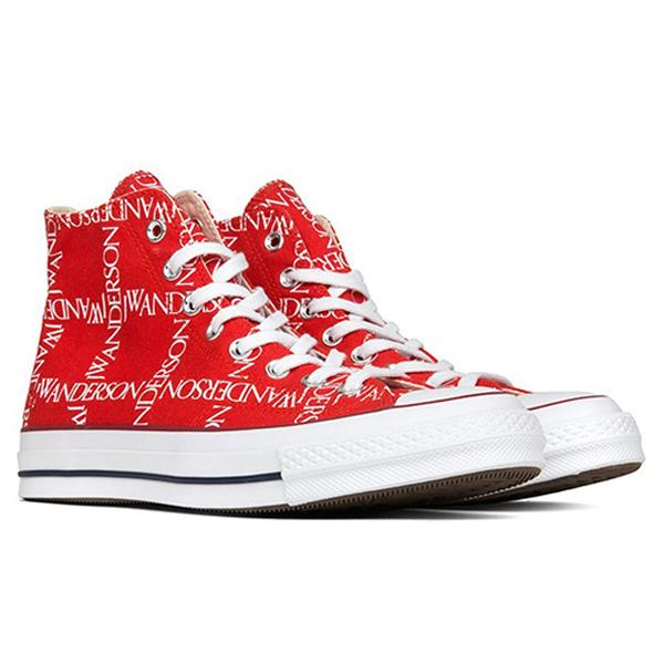 Converse x JW Anderson All Star Chuck 70 Grid Hi - Flame Scarlet/White