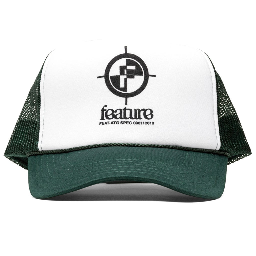 Feature Crosshair Trucker Hat - White/Dark Green