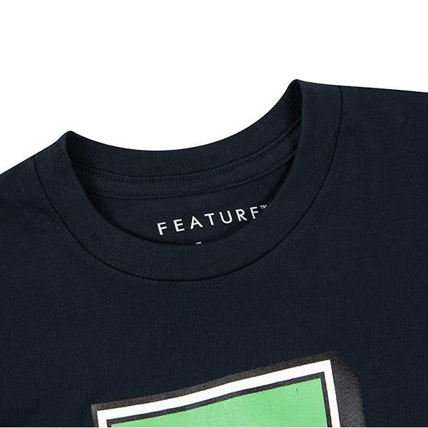 Feature Kid's College F Tee - Charcoal/Green