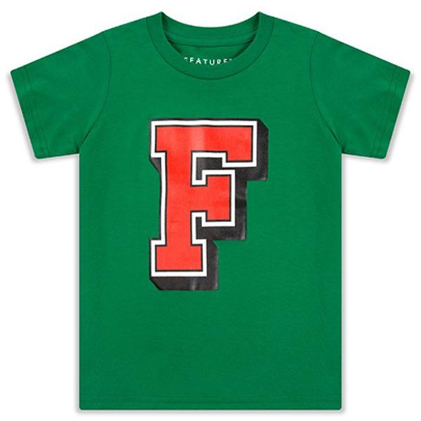 Feature Kid's College F Tee - Green/Red