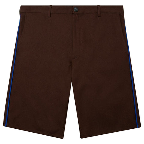 Feature Postal Short - Chocolate/Blue Licorice Piping