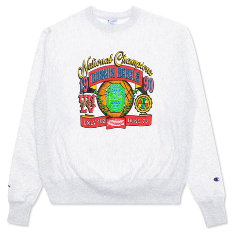 Feature x UNLV Jewel Crewneck Sweater - Heather Grey