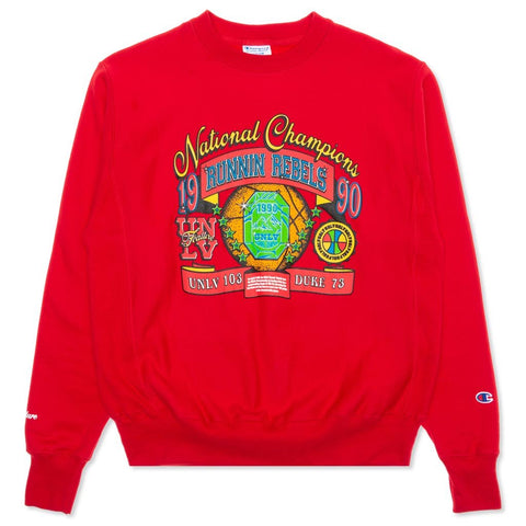 Feature x UNLV Jewel Crewneck Sweater - Red