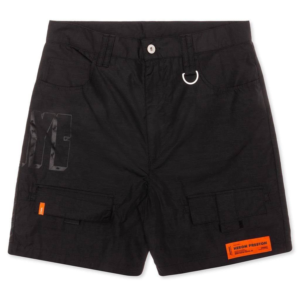 Heron Preston Cargo Shorts - Black/Black