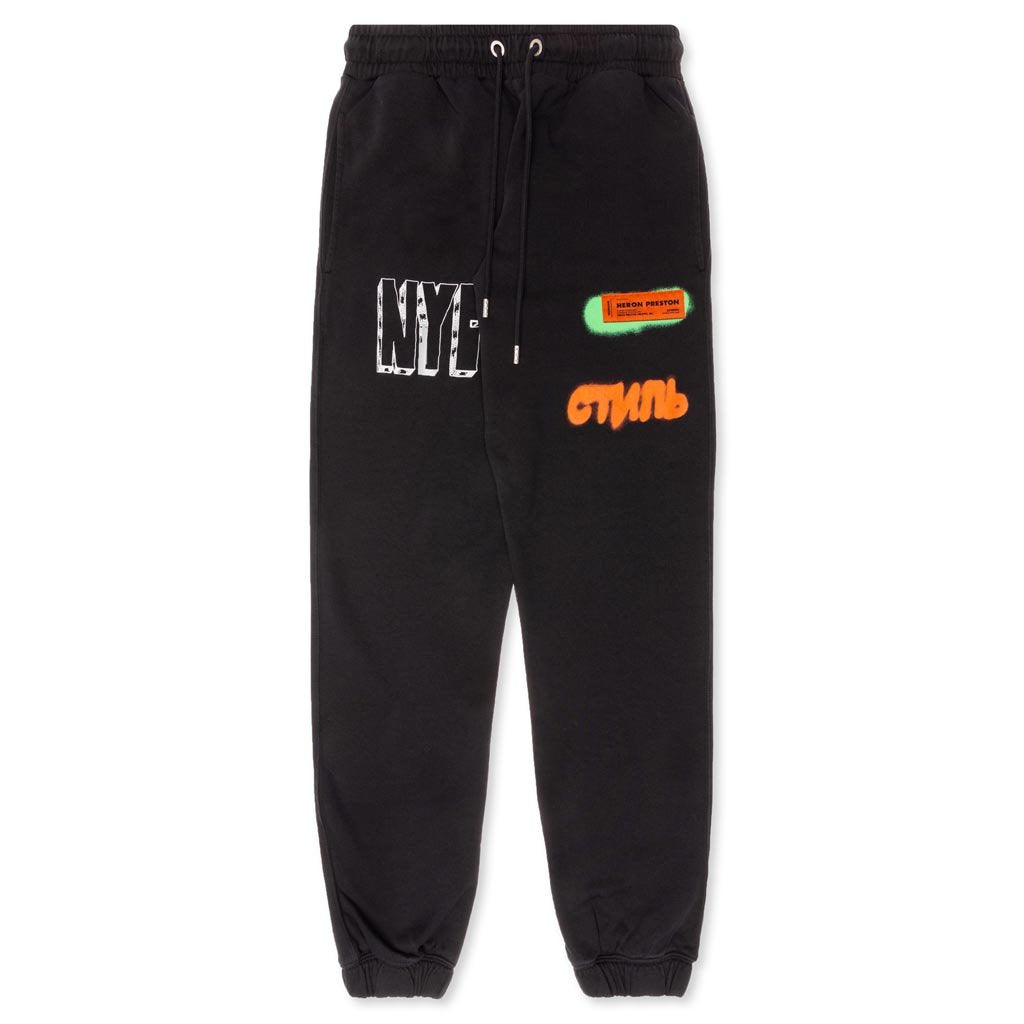 Heron Preston CTNMB Spray Pack Sweatpants - Black/Orange