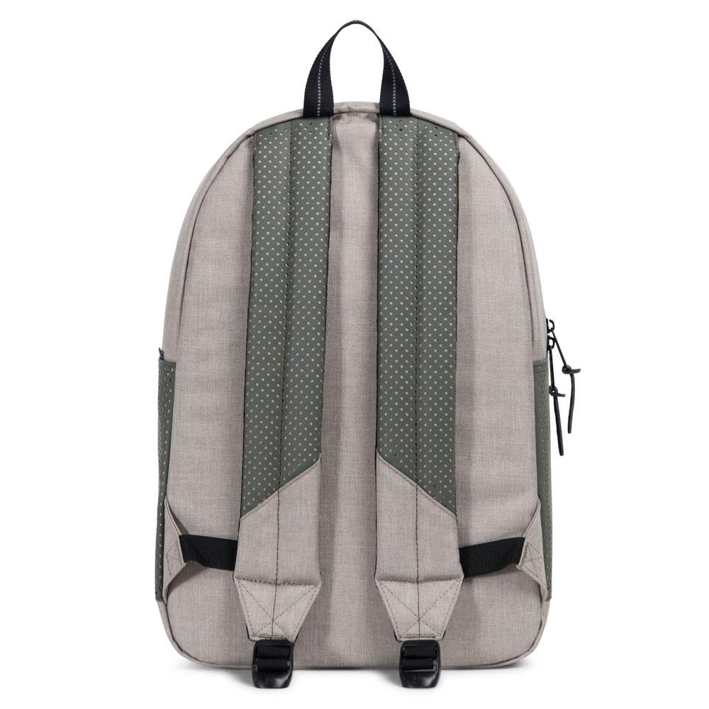 Herschel Supply Co. Settlement Backpack - Light Khaki Crosshatch/Forest Night/Black Rubber