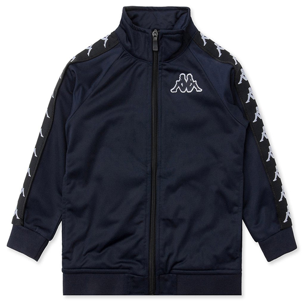 Kappa Kid's 222 Banda Anniston Slim Jacket - Blue Marine/Black