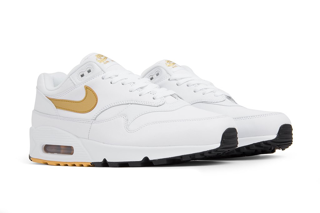 White and Gold Nike Air Max 90/1 – Feature