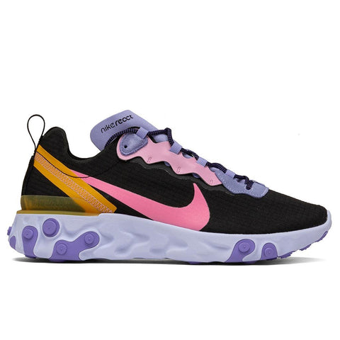Nike React Element 55 - Black/Magic Flamingo/Light Thistle