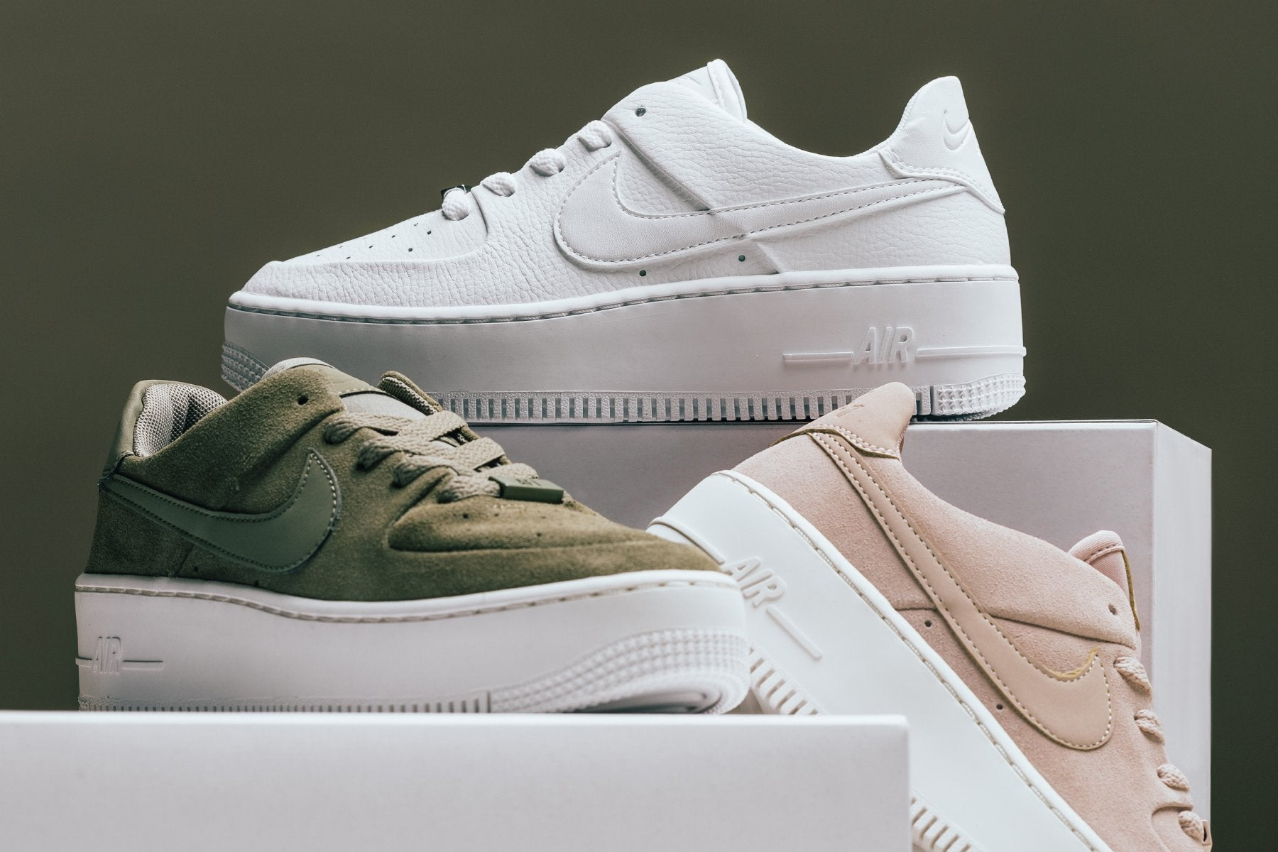 Nike Women S Air Force 1 Sage Low Particle Beige Phantom Feature