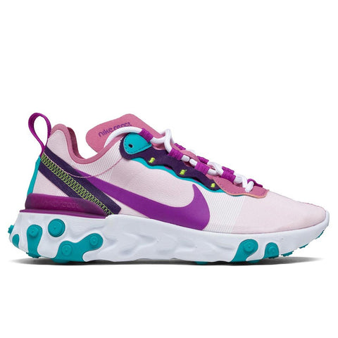 Nike Women's React Element 55 - Magic Flamingo/Vivid Purple/Eggplant