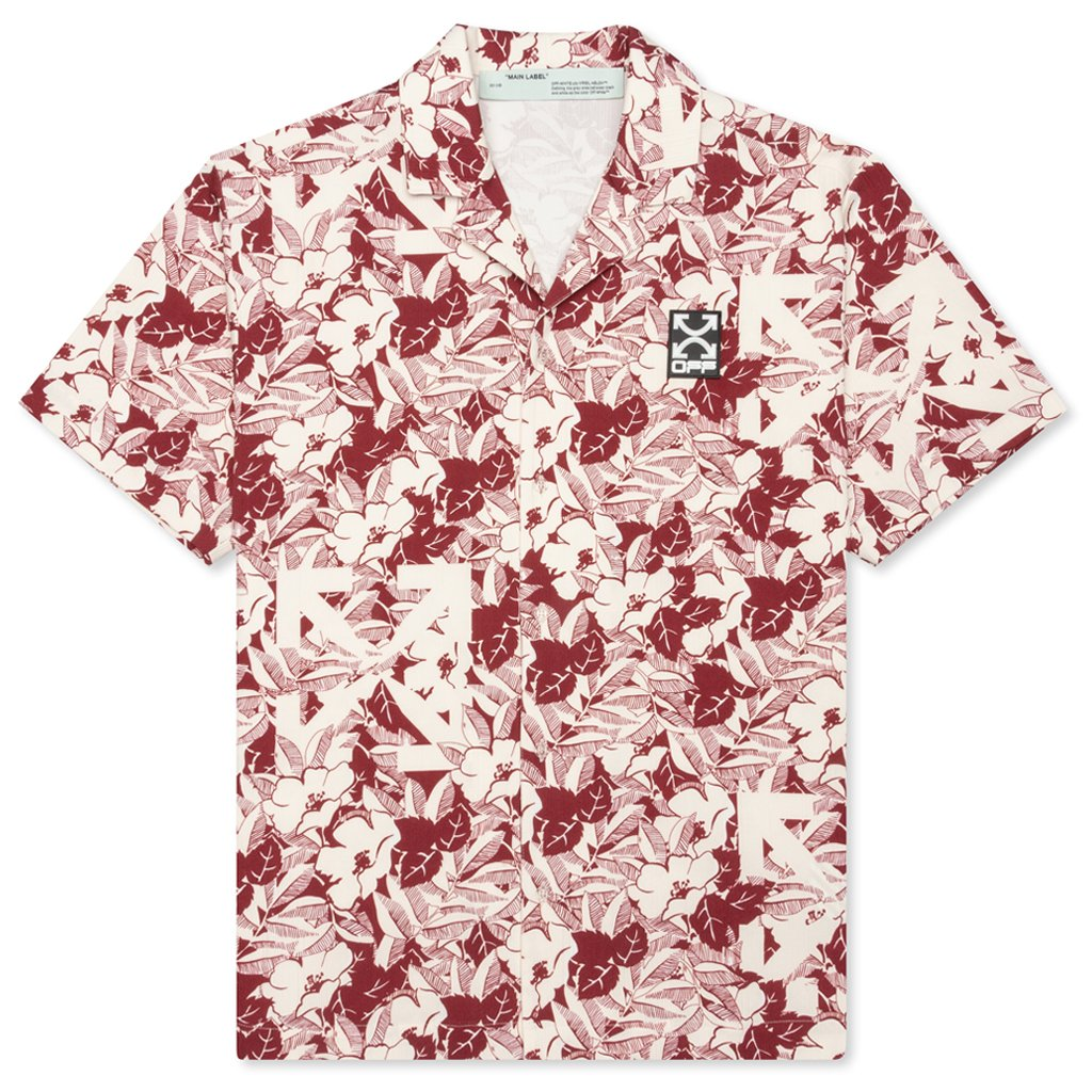 Off-White c/o Virgil Abloh Floral Holiday Shirt - All Over Red