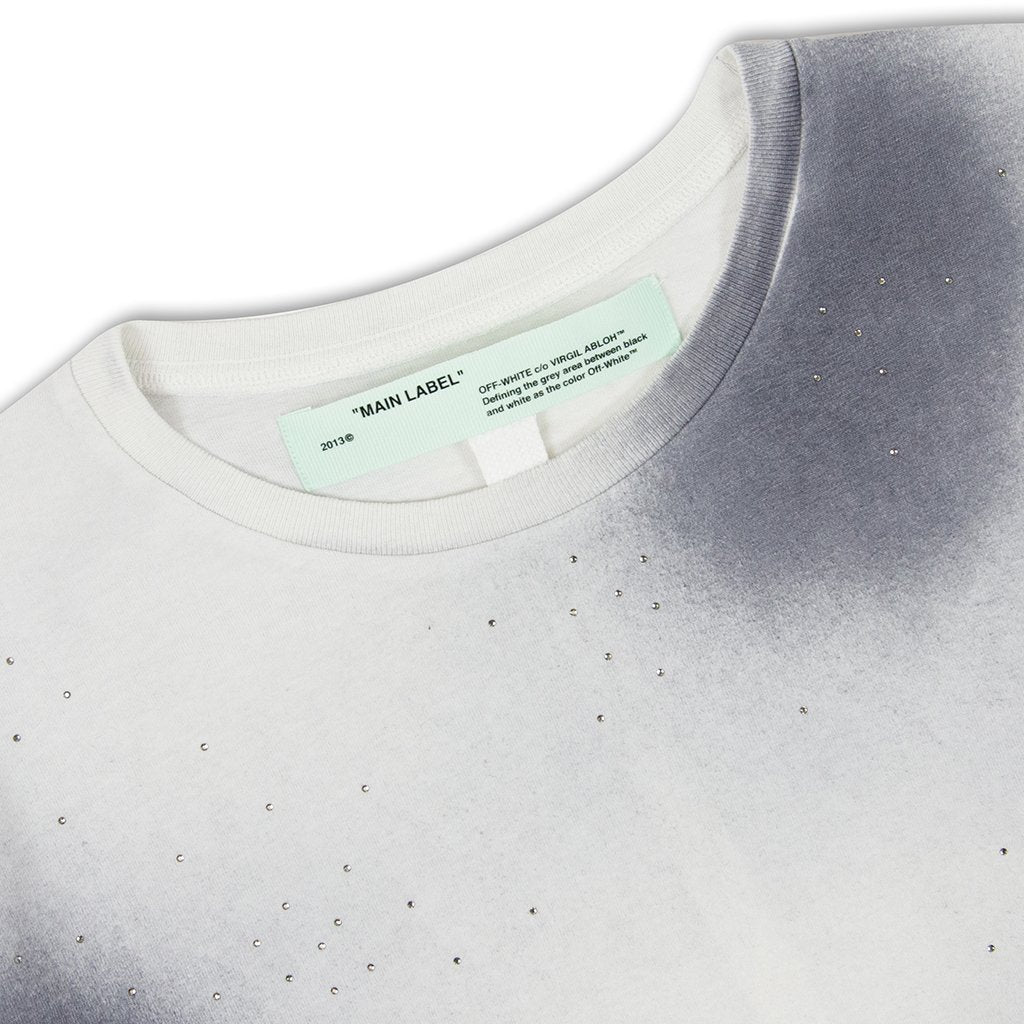 Off-White c/o Virgil Abloh Spray Slim Tee - Light Grey/Black