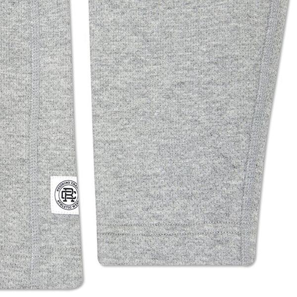 Reigning Champ Mesh Doubleknit Half Zip L/S - Heather Grey - RC-3403-HTG detail
