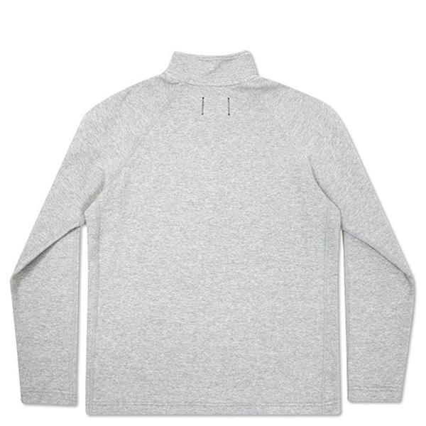 Reigning Champ Mesh Doubleknit Half Zip L/S - Heather Grey - RC-3403-HTG Back