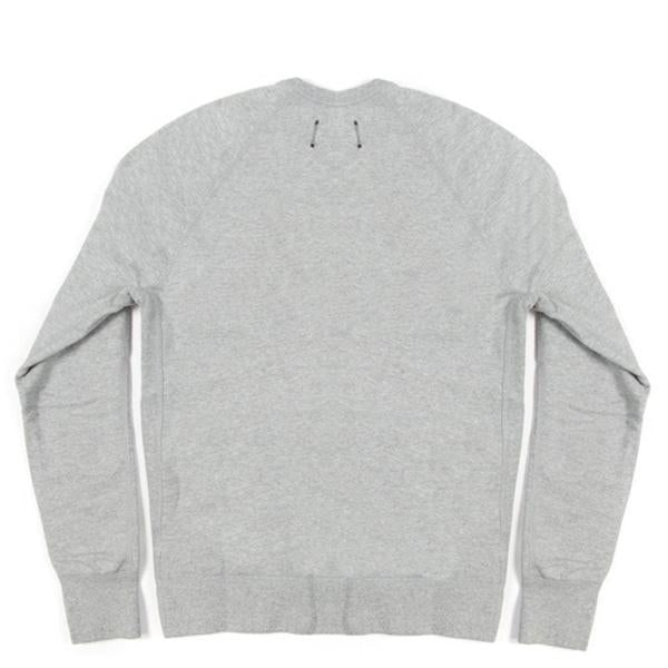 Reigning Champ Midweight Twill Terry Crewneck - Heather Grey