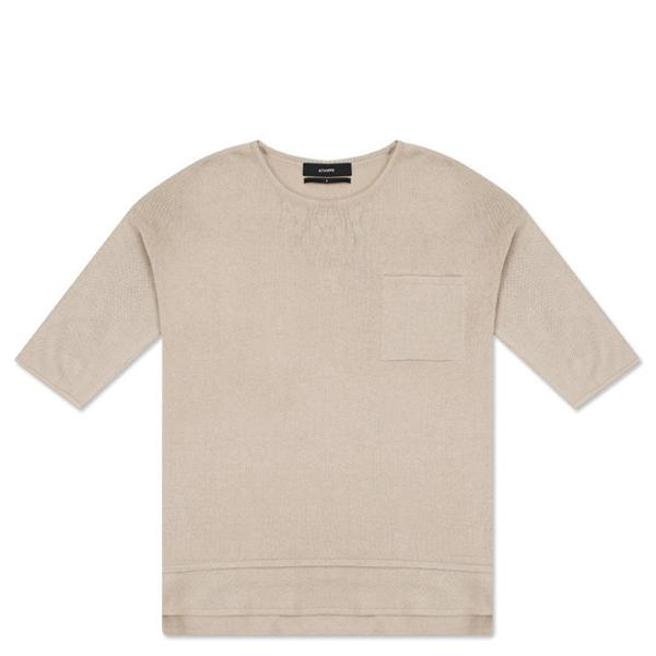 Stampd Short Sleeve Pocket Sweater - Muslin